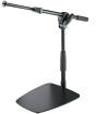 K & M Stands - Flat Base Short Microphone Stand