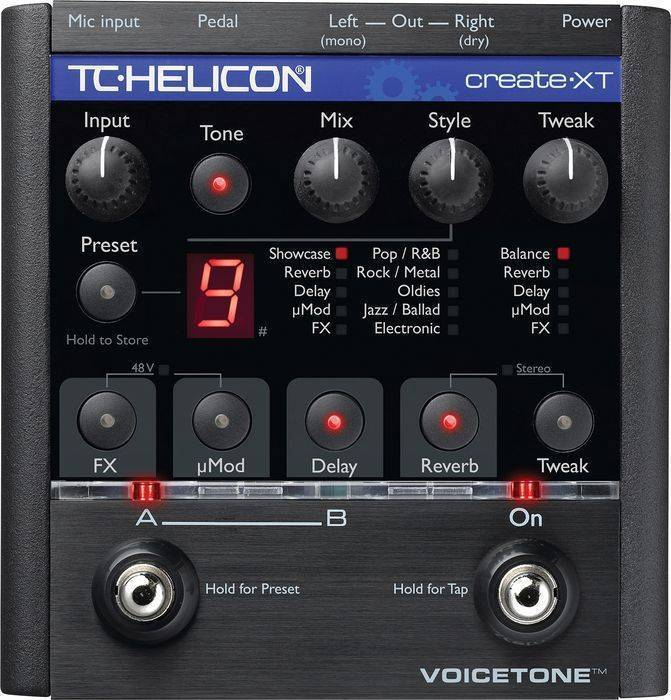 tc helicon voicetone create xt pedal w reverb delay dist long mcquade musical instruments. Black Bedroom Furniture Sets. Home Design Ideas