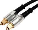 Benchmark Media - TOSLINK Optical Cable with Metal Connectors for Digital Audio - 6/2m