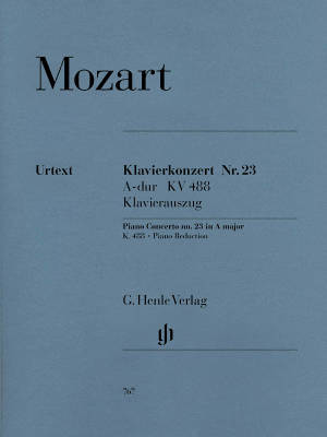 Piano Concerto A major K. 488 - Mozart/Heinemann/Schiff - Piano/Piano Reduction (2 Pianos, 4 Hands) - Book