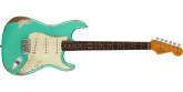 Fender Custom Shop - 1960 Stratocaster Heavy Relic with Rosewood Fingerboard - Faded Aged Foam Green