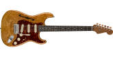 Fender Custom Shop - Artisan Maple Burl Stratocaster Thinline with Roasted Ash Body / AAAA Figured Maple Burl Top - Aged Natural