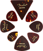 Fender - All Shape Celluloid Pick Pack (8-Pack) - Tortoise Shell
