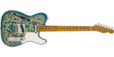 Fender Custom Shop - Limited Edition Double Esquire Custom Relic, Maple Fingerboard - Aged Blue Flower