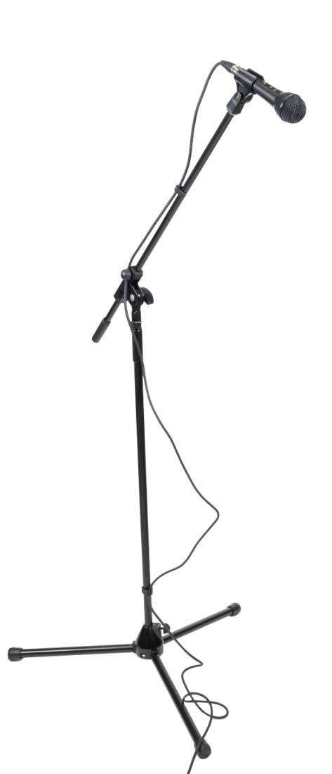 Apex Electronics - Economy Dynamic Hand Held Microphone Package with Cable,  Stand and Clip