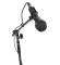 Economy Dynamic Hand Held Microphone Package with Cable, Stand and Clip