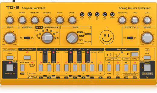 TD-3-AM Analog Bass Line Synthesizer - Yellow