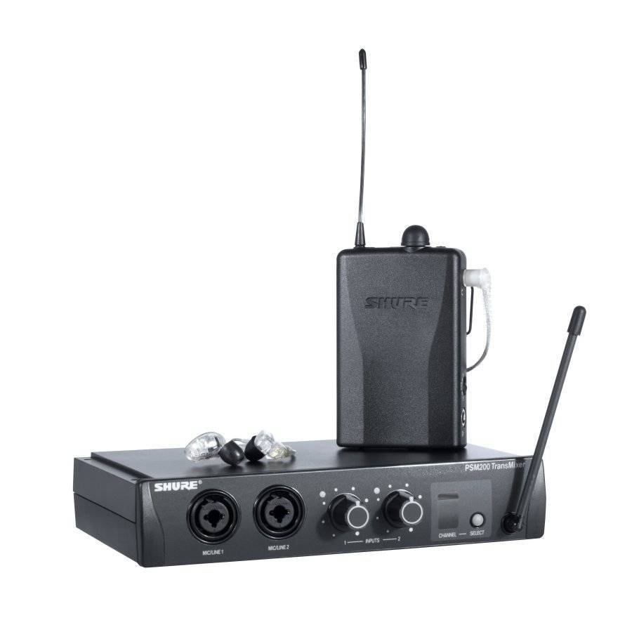 shure psm200 wireless in ear system w se215cl long mcquade musical instruments. Black Bedroom Furniture Sets. Home Design Ideas