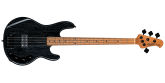 Sterling by Music Man - Ray34ASH Stringray Bass, Swamp Ash - Black with White Grain