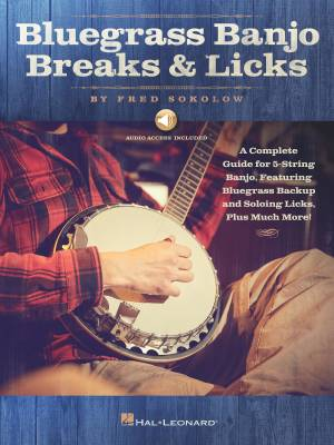 Bluegrass Banjo Breaks & Licks - Sokolow - Banjo TAB - Book/Audio Online