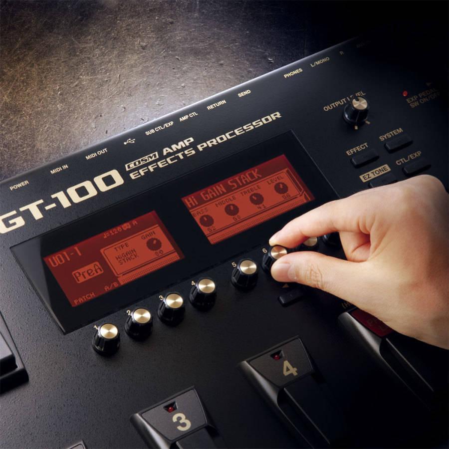 boss gt100 amp effects processor long mcquade musical instruments. Black Bedroom Furniture Sets. Home Design Ideas