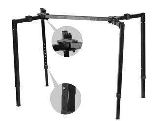 Yorkville Sound Deluxe 4 Leg Collapsible Keyboard Stand