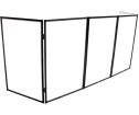 ProX - 5-Panel DJ Facade with Black Frame/Scrims/Carry Case