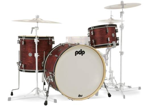 Concept Classic 3-piece Maple Shell Pack (24,13,16) - Ox Blood w/Ebony Hoops