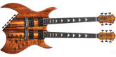 B.C. Rich - Rich B Legacy Exotic Double Neck 18-String Electric with Case - Natural Koa
