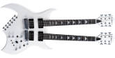 B.C. Rich - Rich B Legacy Double Neck 18-String Electric with Case - White