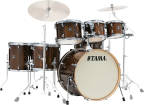 Tama - Superstar Classic Exotic Shell Pack (22,8,10,12,14,16,SD) - Gloss Java Lacebark Pine