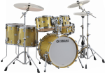 Yamaha - Absolute Hybrid Maple Drum Kit (22, 10, 12, 14, 16, SN) with Hardware - Gold Champagne Sparkle