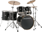 Ludwig Drums - Evolution 6-Piece Drum Kit with Hardware and I Series Cymbals (22, 10, 12, 14, 16, SN) - Black Sparkle