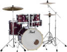 Pearl - Export EXX 5-Piece Drum Kit (22,12,13,16,SD) with Hardware and Cymbals - Burgundy