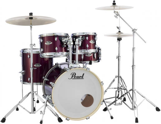 Export EXX 5-Piece Drum Kit (22,12,13,16,SD) with Hardware - Burgundy