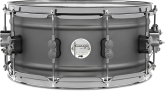 Pacific Drums - Concept Series 6.5x14 Gun Metal Over Steel Snare with Black Nickel Hardware