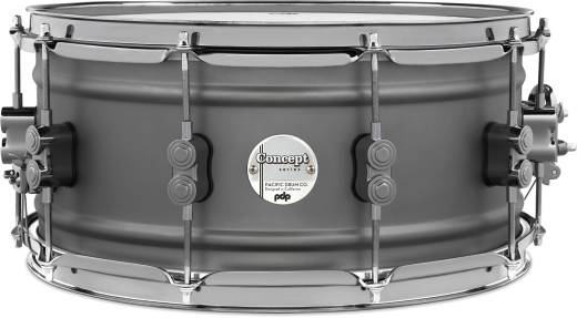 Concept Series 6.5x14'' Gun Metal Over Steel Snare with Black Nickel Hardware