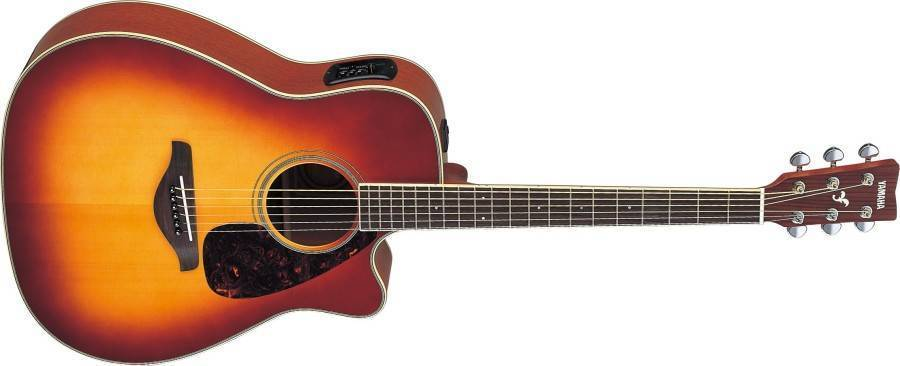 yamaha fgx700sc in brown sunburst long mcquade musical instruments. Black Bedroom Furniture Sets. Home Design Ideas