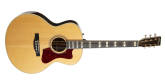Norman - ST68 Mini Jumbo Acoustic-Electric Guitar w/TRIC Case - Natural