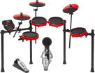 Alesis - Nitro Mesh Kit - 8-Piece Electronic Drum Kit with Mesh Pads - Special Edition Red