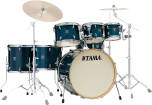 Tama - Superstar Classic Exotic Shell Pack (22,8,10,12,14,16,SD) - Gloss Sapphire Lacebark Pine