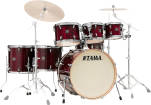 Tama - Superstar Classic Exotic Shell Pack (22,8,10,12,14,16,SD) - Gloss Garnet Lacebark Pine