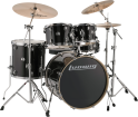 Ludwig Drums - Evolution 5-Piece Drum Kit with Hardware and I Series Cymbals (22, 10, 12, 16, SN) - Black Sparkle