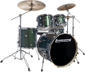 Ludwig Drums - Evolution 5-Piece Drum Kit with Hardware and I Series Cymbals (22, 10, 12, 16, SN) - Green Sparkle