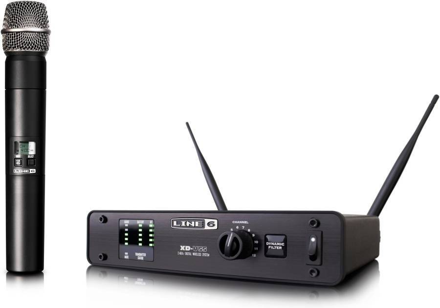 Line xd v digital wireless handheld mic system long
