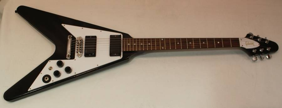 Gibson Gibson Kirk Hammett Aged Flying V - Ebony - Long ...