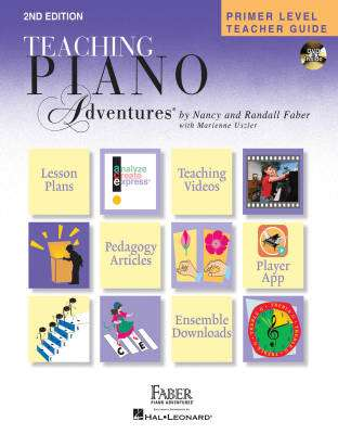 Teaching Piano Adventures: Primer Level Teacher Guide (Second Edition) - Faber/Faber - Piano - Hardcover/DVD