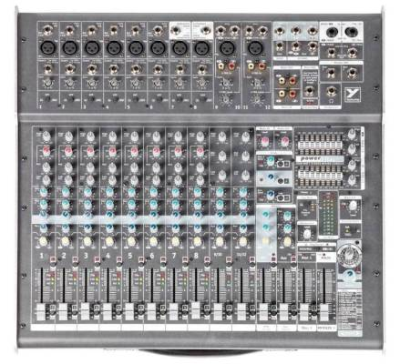 12-Channel 2,000-Watt  Powered Desk Mixer