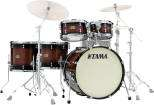 Tama - S.L.P. Dynamic Kapur 5-Piece Shell Pack (22,10,12,14,16) - Gloss Black Kapur Burst