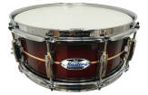 Pearl - Masters Maple Complete 6.5x14 Snare Drum - Red Burst Stripe
