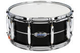 Pearl - Masters Maple Complete 6.5x14 Snare Drum - Piano Black with Silver Stripe