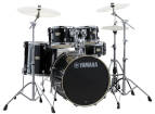 Yamaha - Stage Custom Birch 5-Piece Drum Kit (22,10,12,16, SN) with Hardware - Raven Black