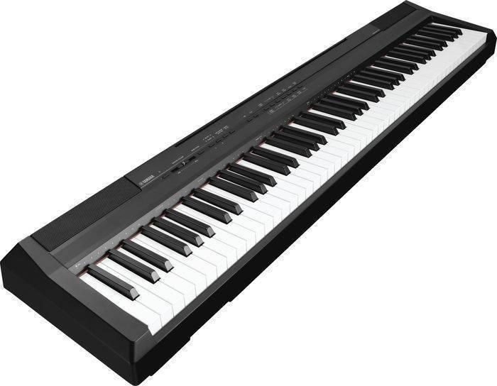 Yamaha p105 88 note digital piano black long mcquade for Digital piano keyboard yamaha