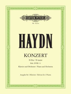 Piano Concerto in D Hob. XVIII:11 (Edition for 2 Pianos) - Haydn/Hinze-Reinhold - 2 Pianos, 4 Hands - Book