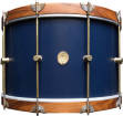 A&F Drum Co. - Club Series Maple Bass Drum with Rosewood Hoops, 14x22 - Chandler Blue