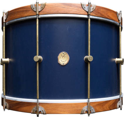 Club Series Maple Bass Drum with Rosewood Hoops, 14x22'' - Chandler Blue