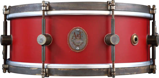 Steam Bent Solid Maple Snare, 6.5x14'' - Antique Red