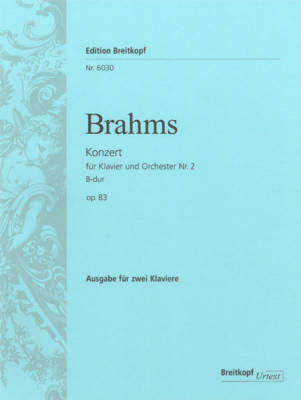 Piano Concerto No. 2 in Bb major Op. 83 - Brahms - Piano/Piano Reduction Duet - Book