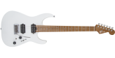 Charvel Guitars - USA Select DK24 HH 2PT CM, Caramelized Flame Maple Fingerboard - Satin White