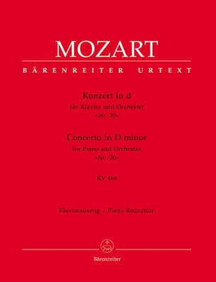 Concerto for Piano and Orchestra no. 20 in D minor K. 466 - Mozart/Engel/Heussner/Faber - Solo Piano/Piano Reduction (2 Pianos, 4 Hands) - Book